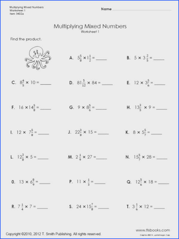 Multiplying Fractions By A Whole Number Worksheet Worksheets for