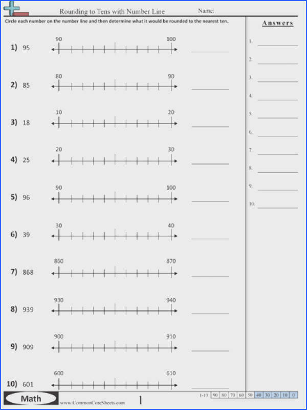 Unique Rounding Worksheets Fresh Rounding To The Nearest 10 With A Number Line There Are Many