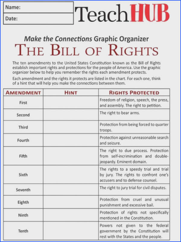 Bill Rights Worksheet For Kids Worksheets for all Download and Worksheets
