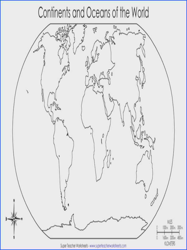 Blank Map Worksheets Worksheets for all Download and Worksheets