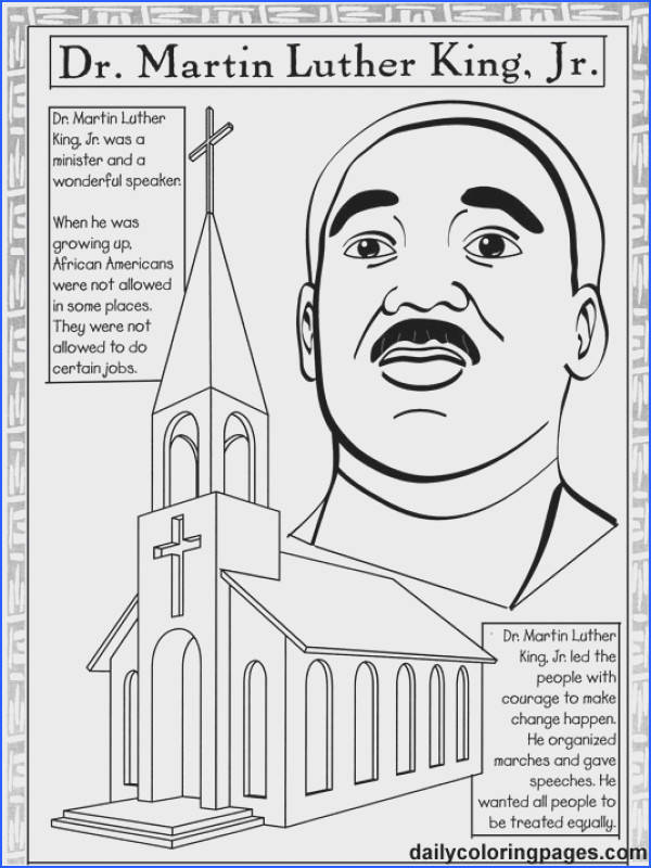Bright Idea Free Printable Martin Luther King Coloring Pages Holiday Who Is MLK And Why Does