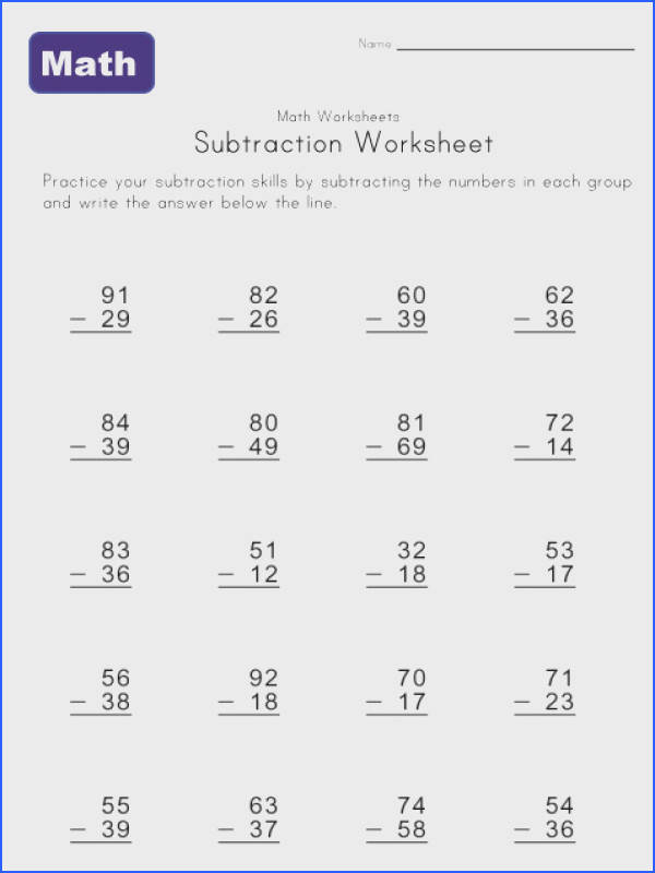 Borrowing Worksheet One Ideas for the House Image Below Subtraction Worksheets