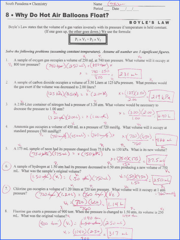 boyle s law worksheet ideal gas law worksheet answers free worksheets library