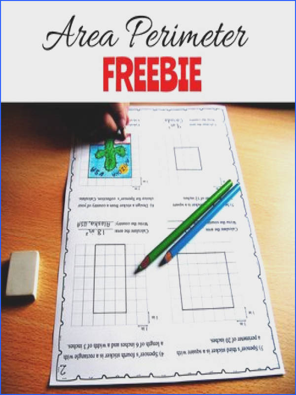 Brush up on Area and Perimeter skills with this fun activity and help Spencer organize