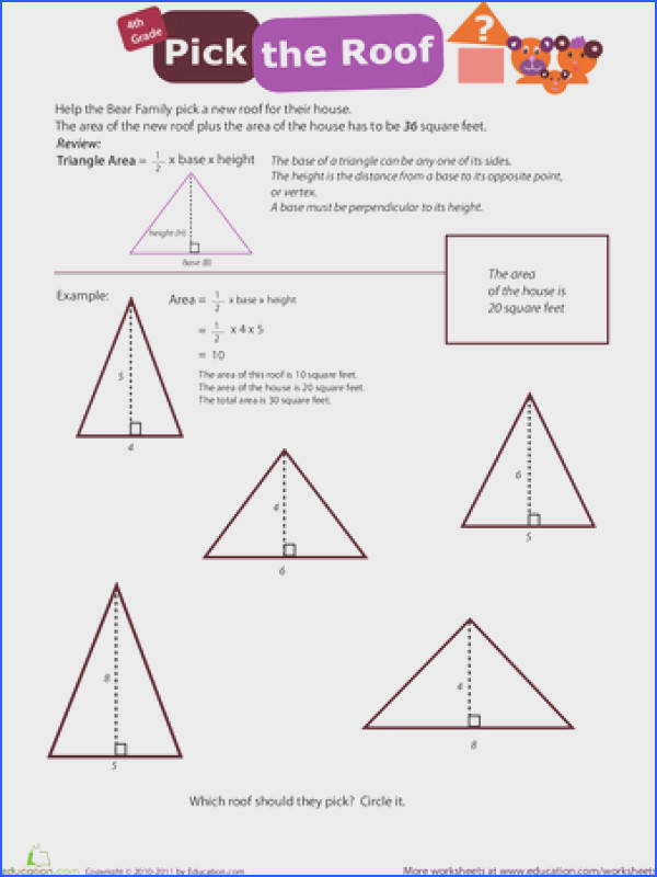 Brush up on the basics of geometry with these perimeter area and angle worksheets Triangle