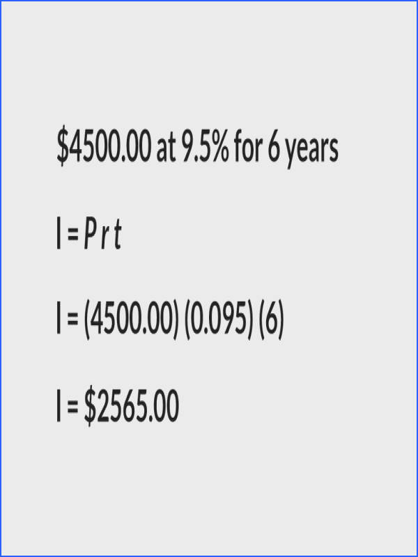 Calculating Interest Principal Rate and Time Are Known