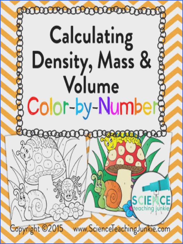 Calculating Density Mass & Volume Color by Number