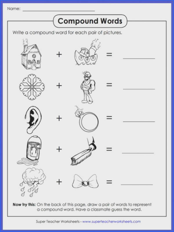 Can Your Students Figure Out which Pound Word the Pictures Make Image Below Super Teacher Worksheets Com