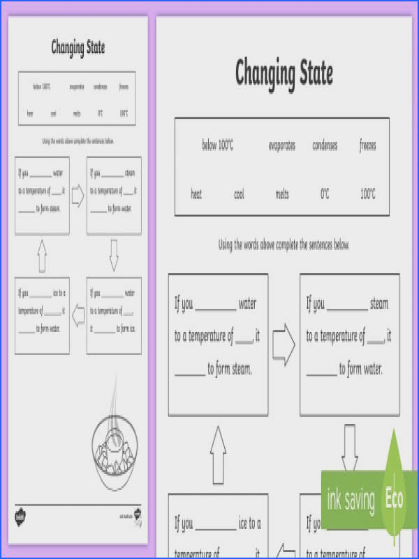 Changing States Ice Water Steam Worksheet changing states materials solids liquids and gases