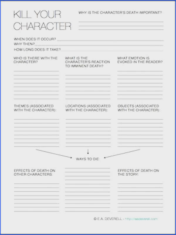 Character Questionnaire by Lee White About Fiction Writing Pinterest