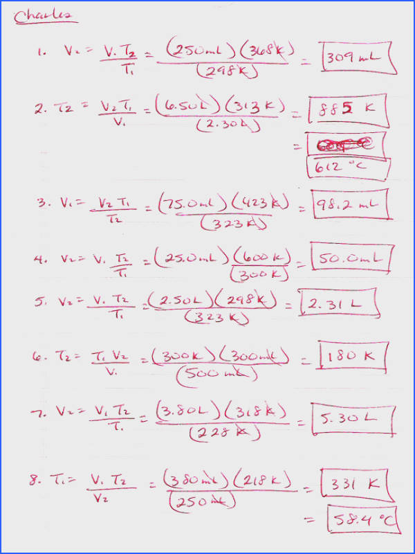 ideal gas law practice worksheet temperature of the balloon