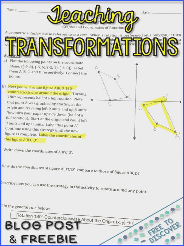 Check out these strategies for teaching geometric transformations in 8th grade and geometry Ideas include