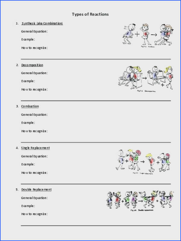 chemical reactions worksheet and worksheets types of chemical reactions worksheet collection of types chemical reaction worksheet