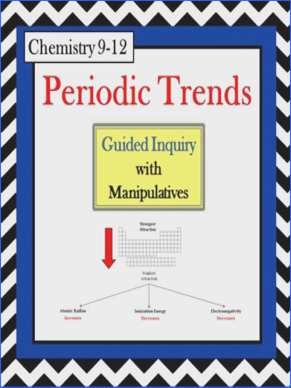 Chemistry Periodic Table Trends Guided Inquiry Lesson