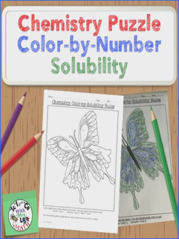 Chemistry Puzzle Color by Solubility Rules Fun Activity