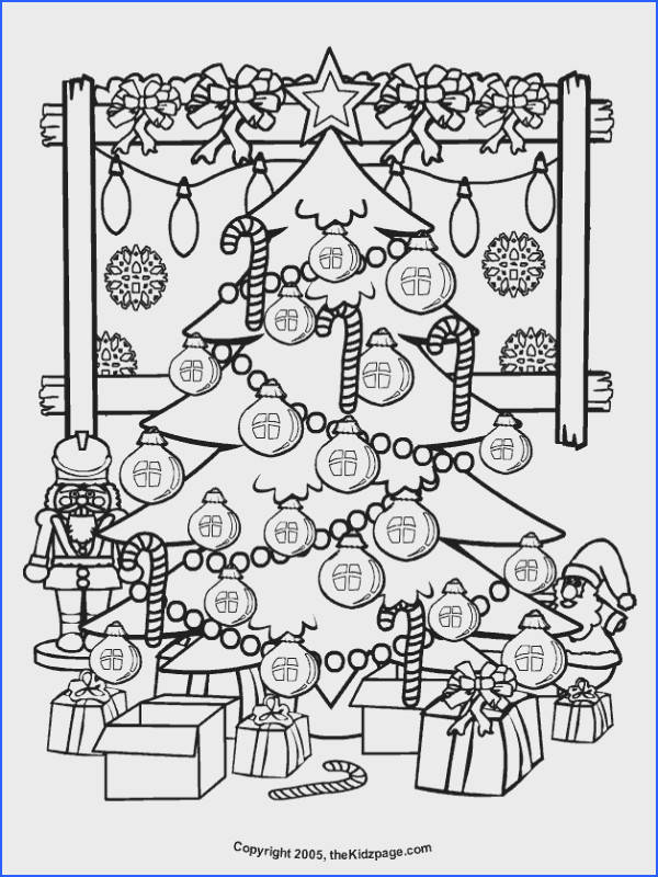 Christmas Tree Free Coloring Pages for Kids Printable Colouring Sheets
