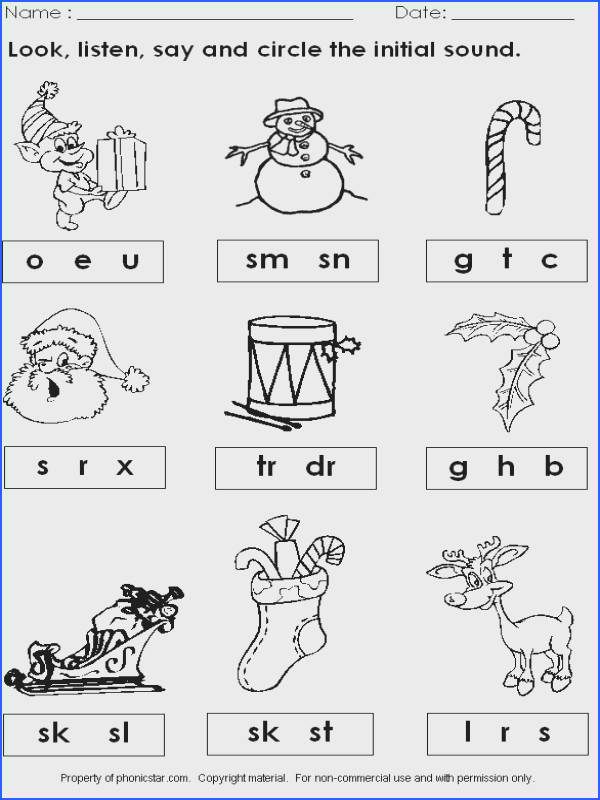 Christmas Worksheets First Worksheets for all Download and Worksheets