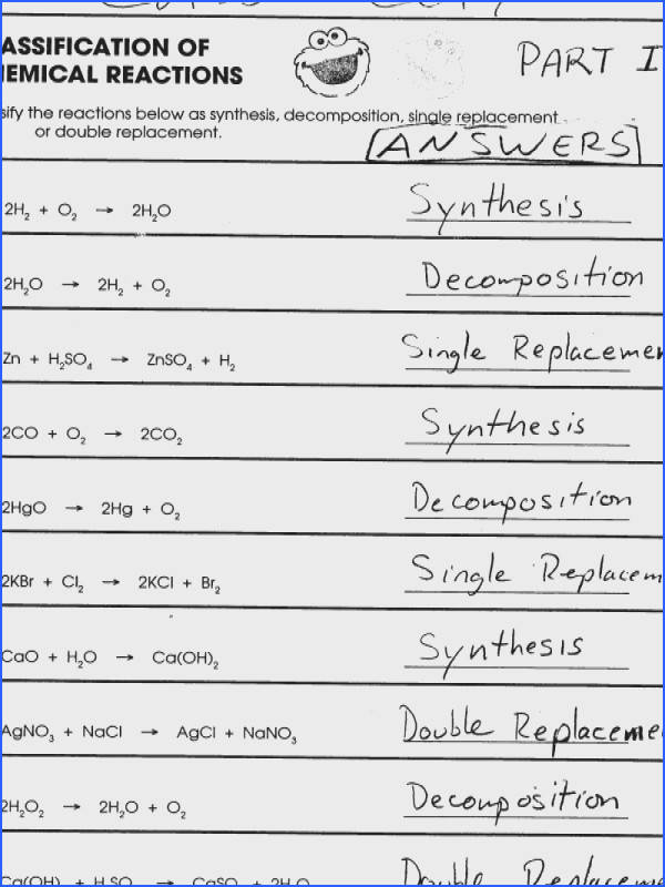 Chic Bill Nye Chemical Reactions Worksheet Key About Reactions Worksheet Answers Switchconf of Bill Nye