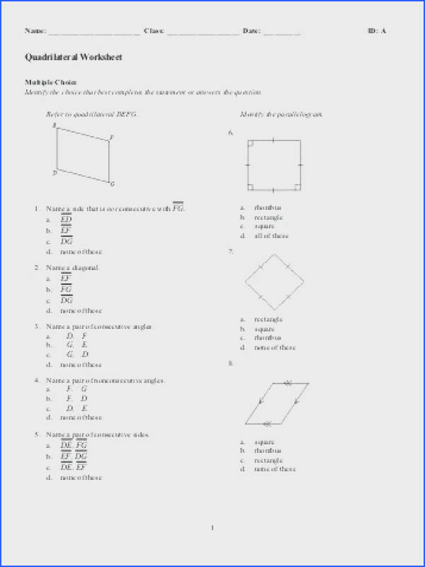 classifying quadrilaterals worksheet and quadrilateral worksheet amazing classifying triangles worksheet 4th grade