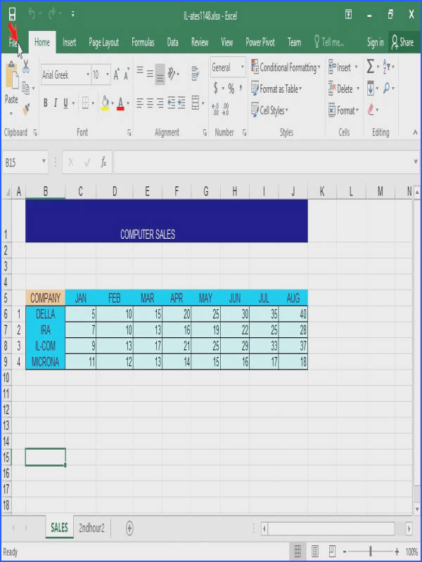 Close the active workbook without terminating the Microsoft Excel application
