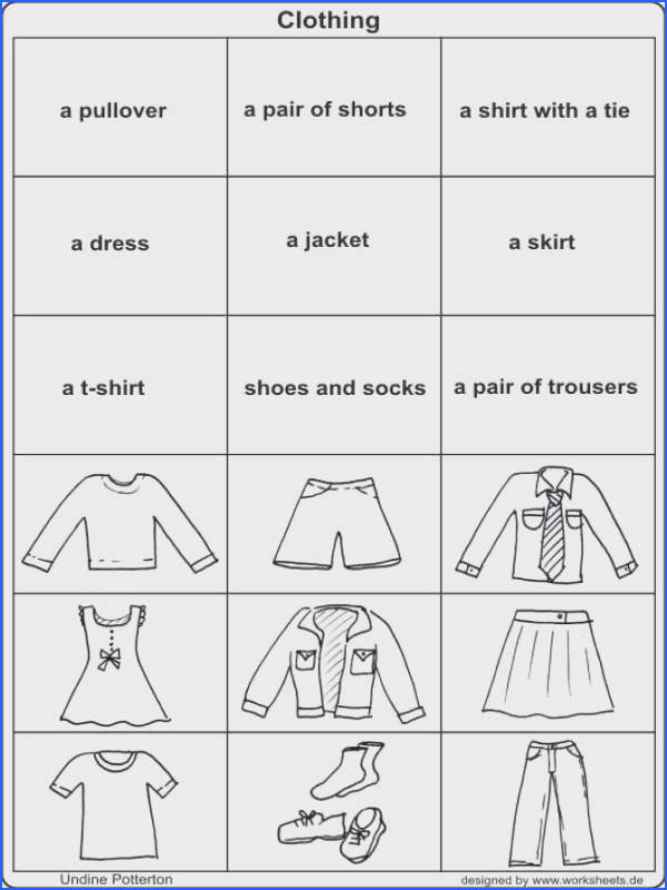 Clothing Clothes Activity Worksheet