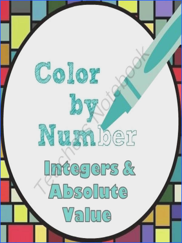 Color by Number Integers and Absolute Value Fun from Mathematic Fanatic on TeachersNotebook