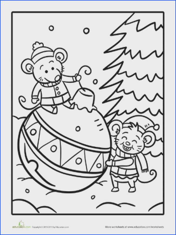 Color the Christmas Mice