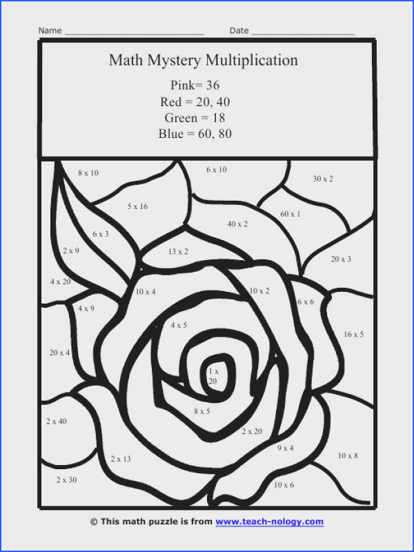 Interesting Coloring Math Worksheets For 5th Grade Best Printable Multiplication Coloring Pages Free Coloring