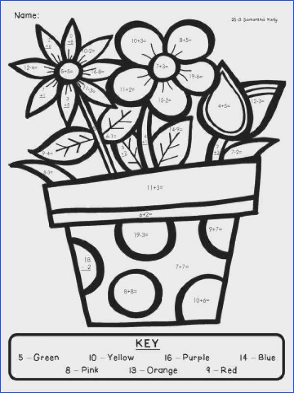 Math Worksheets Free Printable Color By Sum Addition Numbers For Kindergarten Number Multiplication Christmas 360