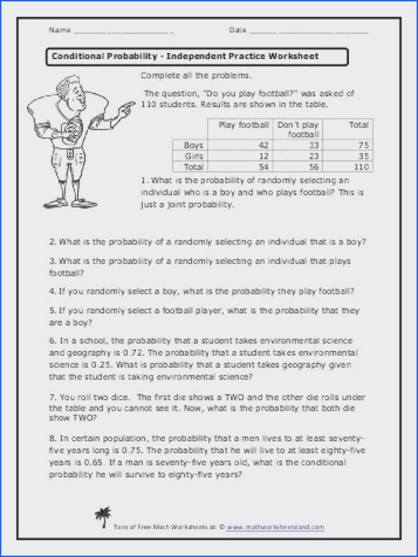 Conditional Probability Independent Practice Worksheet Math Conditional Probability Independent Practice Worksheet