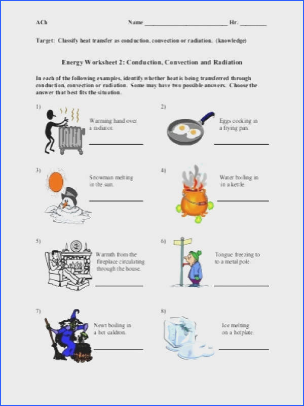 Conduction Convection Radiation Worksheet