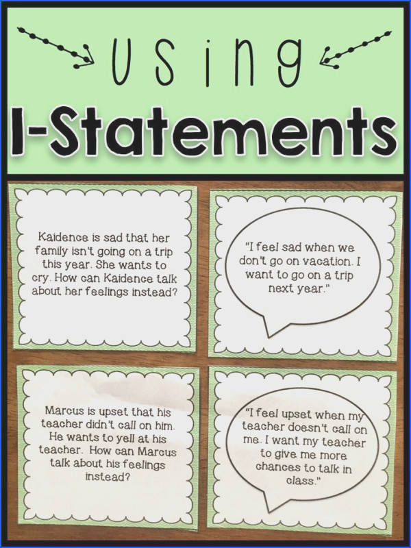 Conflict Resolution Activities Using I Statements