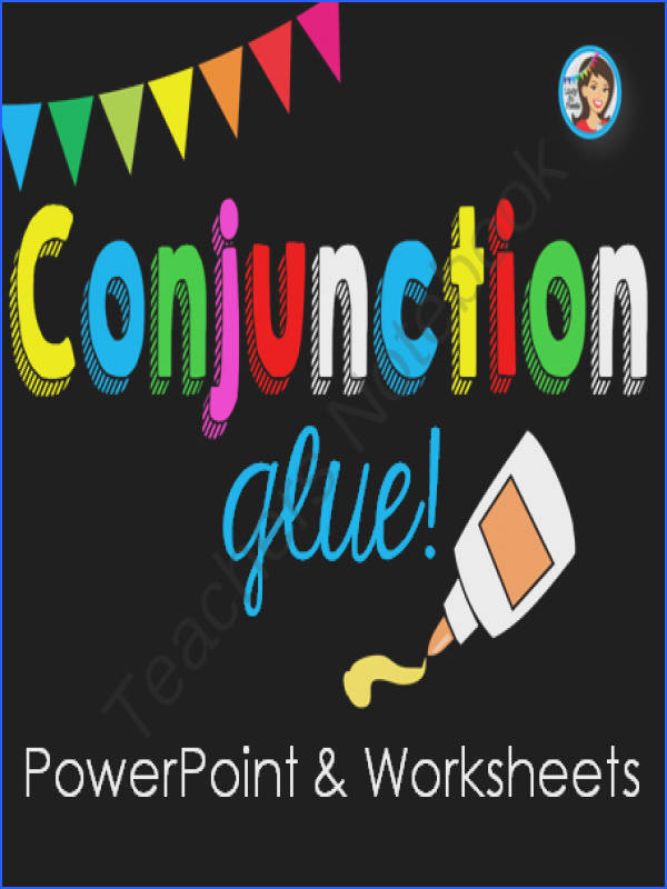 Conjunctions PowerPoint and Worksheets from Lindy du Plessis on TeachersNotebook 51 pages