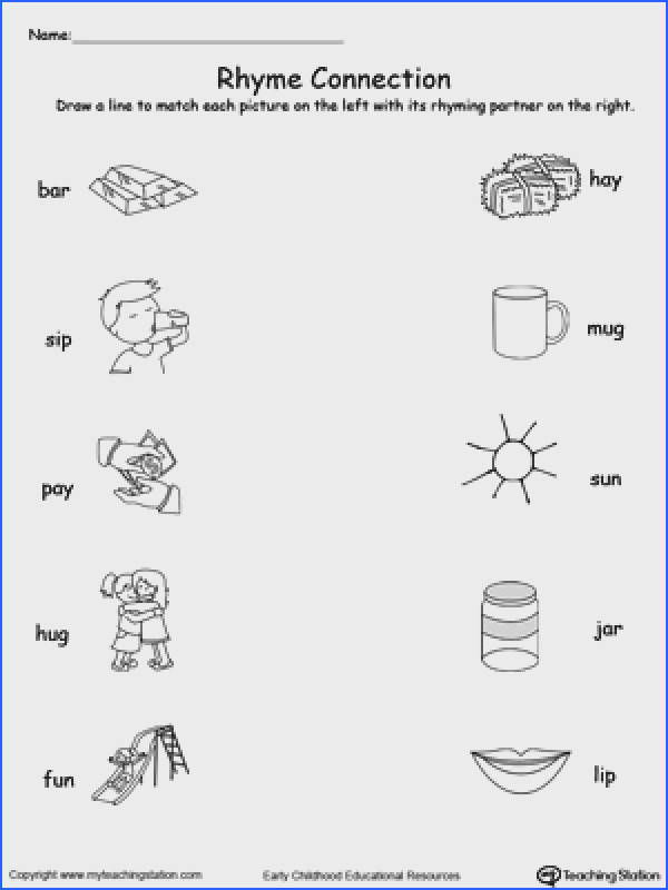 Connect Rhyming With Words Ending In AR IP AY UG or UN