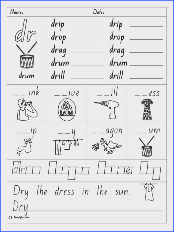 Consonant Blends Spelling Words Worksheets for all Download and Worksheets