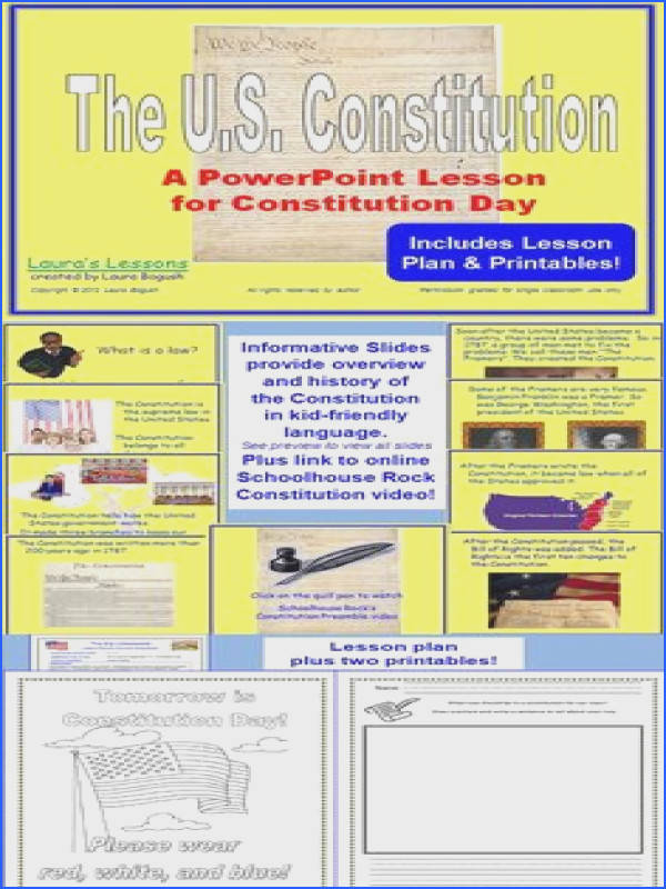 Constitution worksheets Teach this Pinterest
