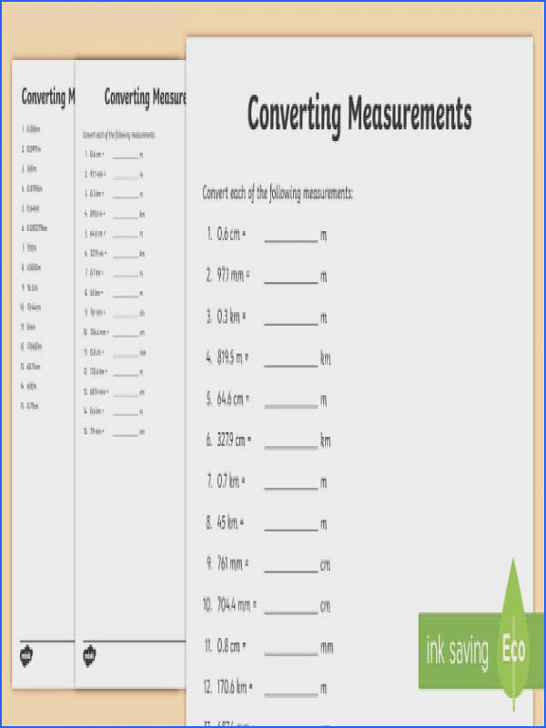 Converting Measurements Worksheet Activity Sheet Australia F 3 New resources aligned to