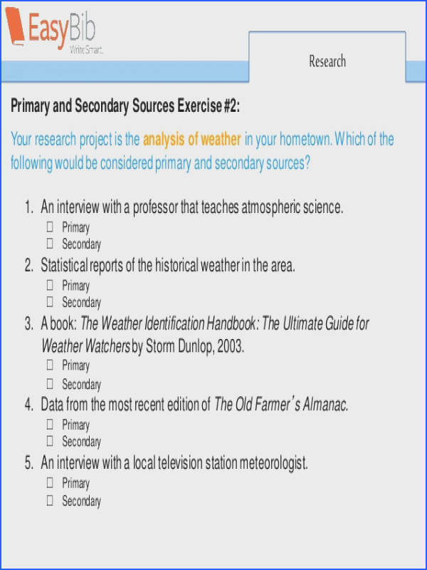 12 Research Primary and Secondary Sources