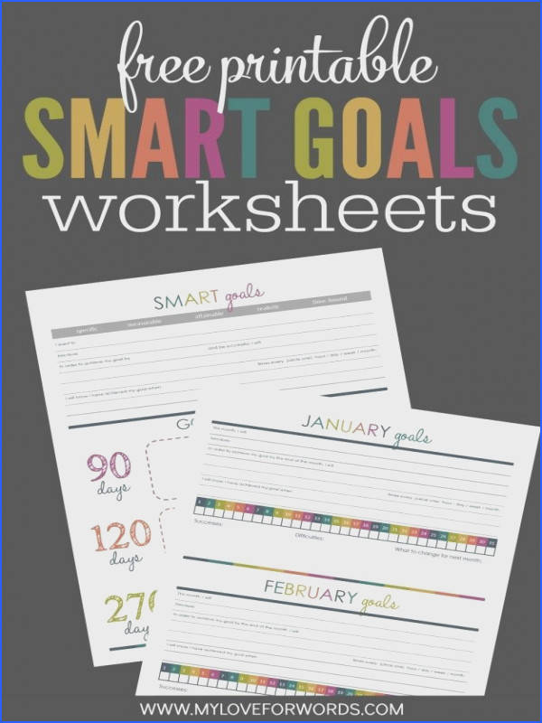 Organizational Printables Free Printable Smart Goals System Worksheets via My…