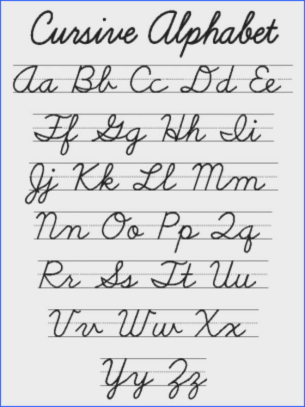 cursive letters that you can print
