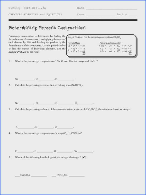 Determining Percent position Worksheet for 9th 12th Grade