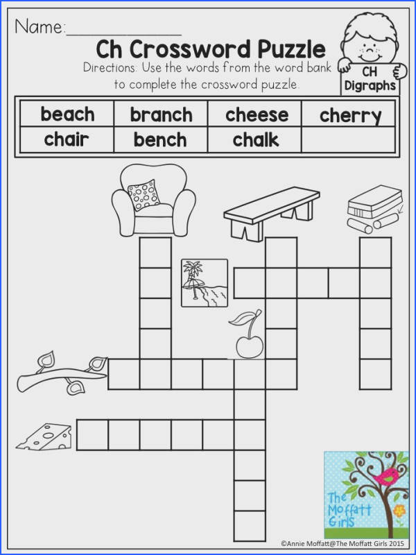 Ch Crossword Puzzle Learning digraphs has never been so FUN Tons of activities to