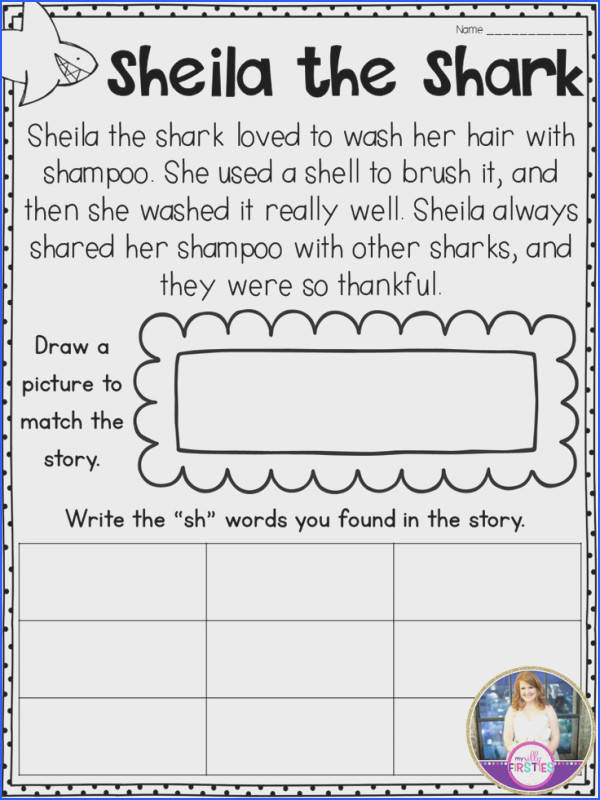 Digraph Passages Students read the passage illustrate it and write the words they