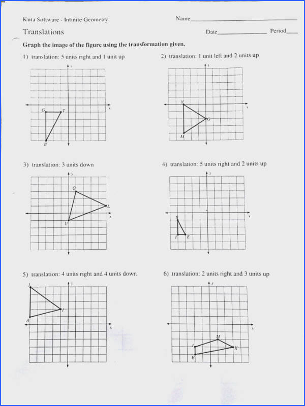 Dilation Worksheet Geometry Worksheets for All Image Below Dilations Worksheet Kuta