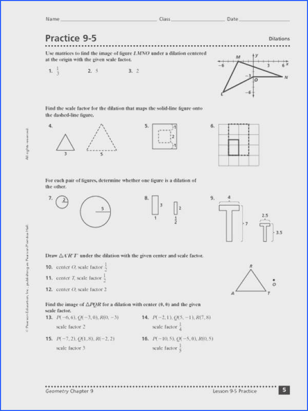 Dilation Worksheets Geometry Worksheets for all Download and Worksheets