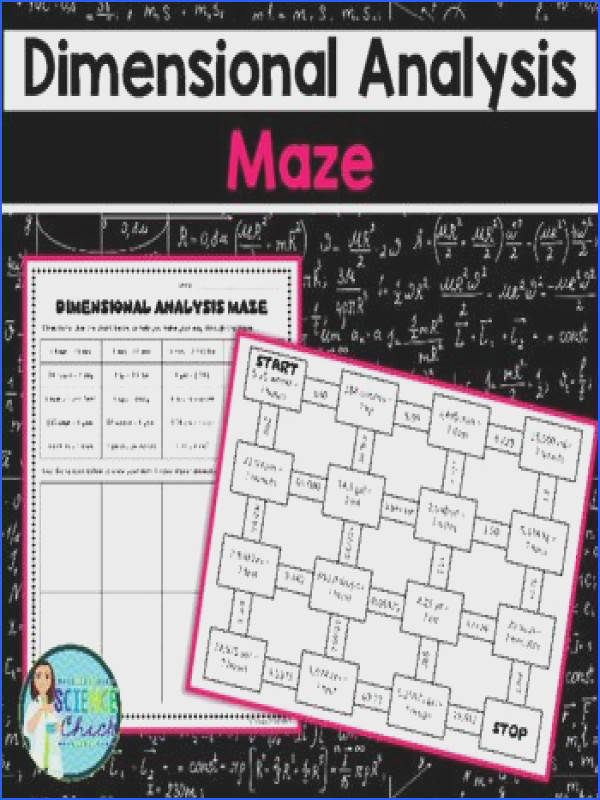 Dimensional Analysis Maze Are you looking for a fun way to have your students practice dimensional