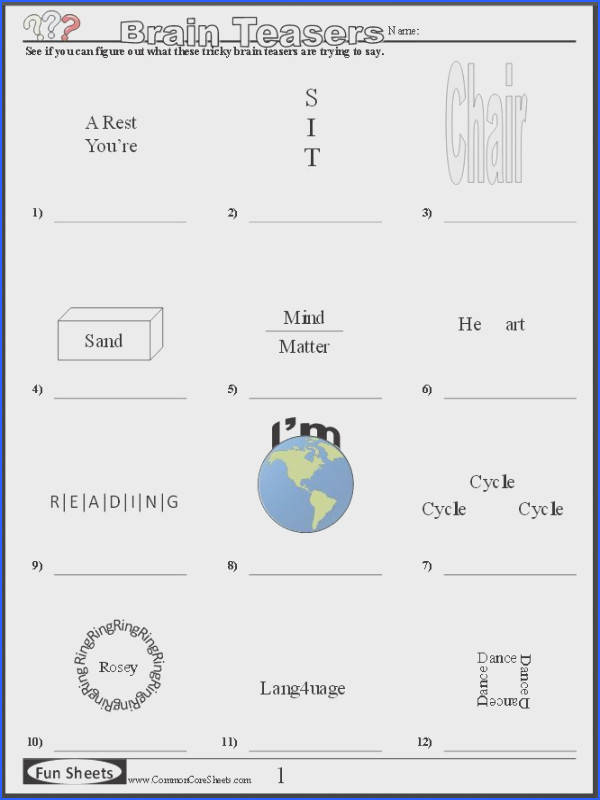 Dingbat puzzles Promote lateral thinking with these fun puzzles Brainsight Activities to development Right Brain Pinterest