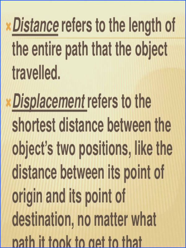 between distance and 9