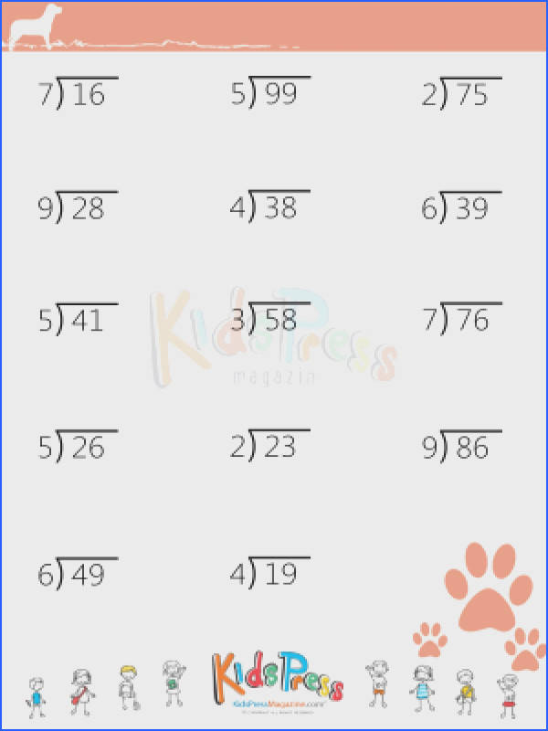 In this lesson you will learn to divide 2 digit dividends by using this cool printable worksheet