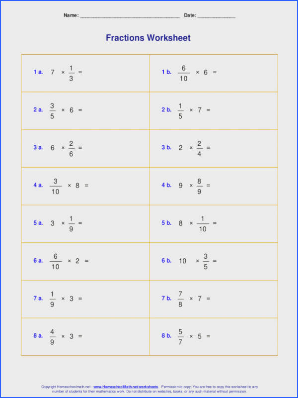 Worksheets For Fraction Multiplication Dividing Fractions And Whole Numbers Multiply Number By Worksheet Tes Division